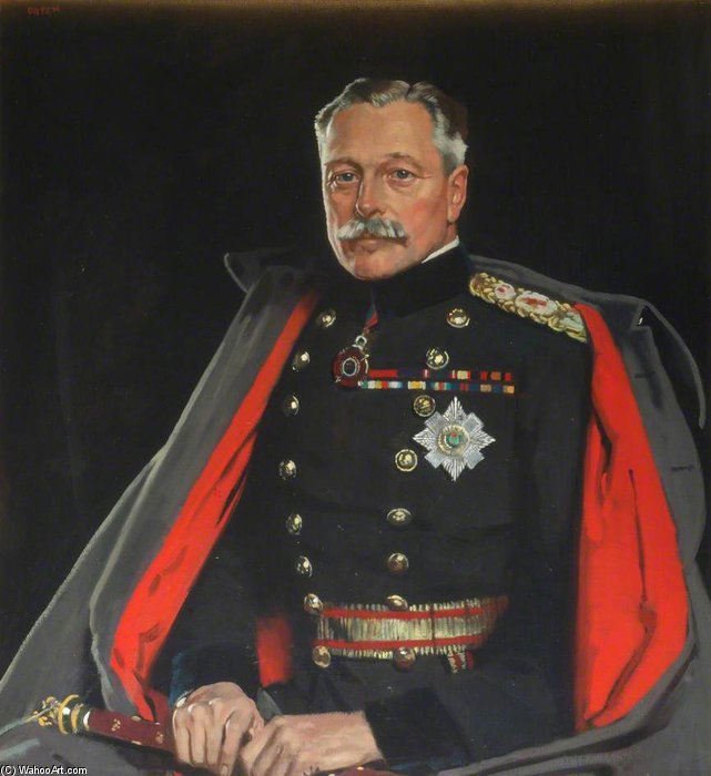 Primeiro Earl Haig, o Marechal de Campo por William Newenham Montague Orpen (1878-1931, Ireland)