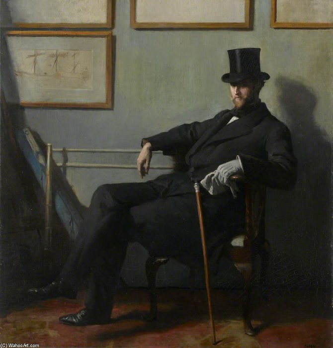 Herbert Barnard John Everett por William Newenham Montague Orpen (1878-1931, Ireland)