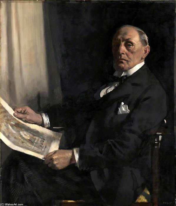 Sir Walter Tapper por William Newenham Montague Orpen (1878-1931, Ireland)