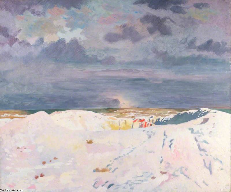 O Grande Mine, La Boisselle por William Newenham Montague Orpen (1878-1931, Ireland)