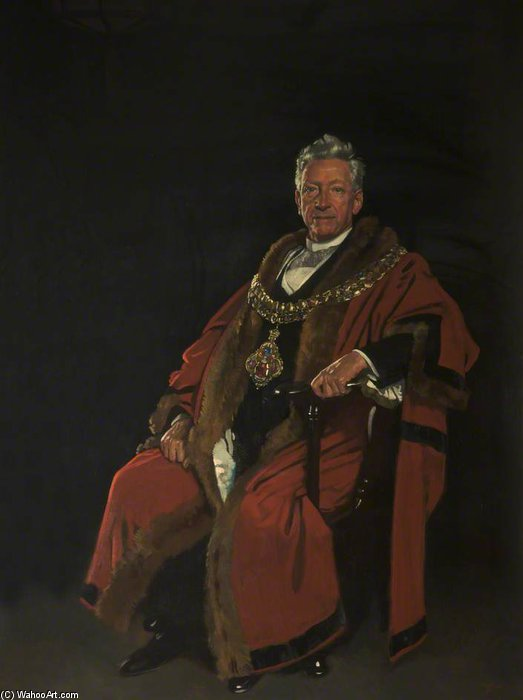 O honorável direito Baron Leverhulme por William Newenham Montague Orpen (1878-1931, Ireland)