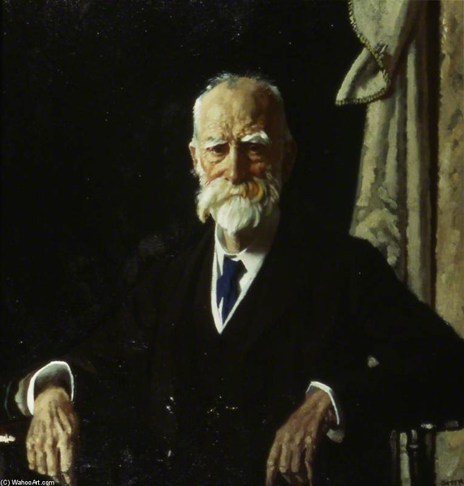 O honorável direito Visconde Bryce, GCVO, Pc por William Newenham Montague Orpen (1878-1931, Ireland)