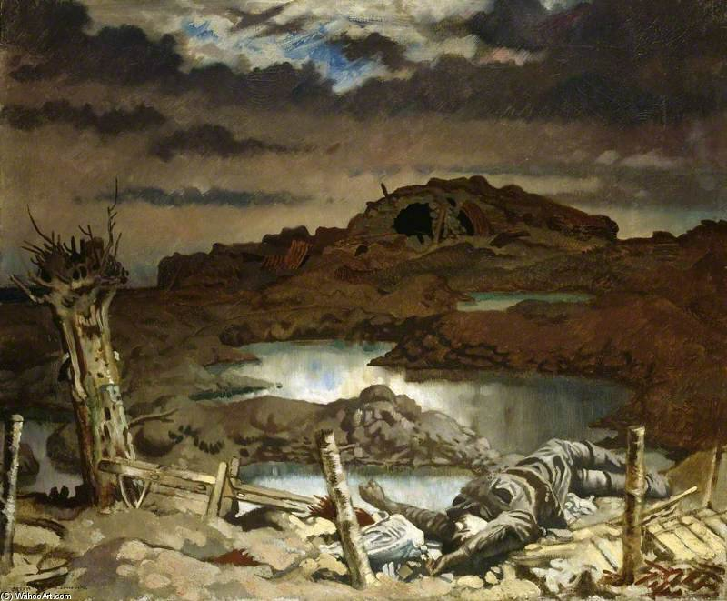 Zonnebeke por William Newenham Montague Orpen (1878-1931, Ireland)