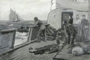 Joseph Nash The Younger - Casualty At Sea