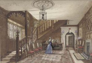 Joseph Nash The Younger - interior de gótico  casa