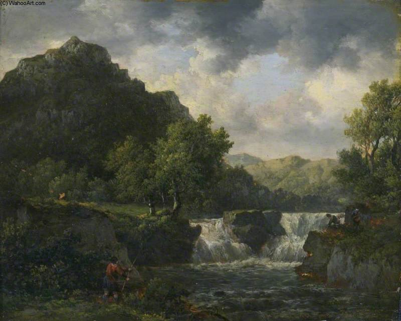 Falls Of The Tummell por Patrick Nasmyth (1787-1831, United Kingdom)