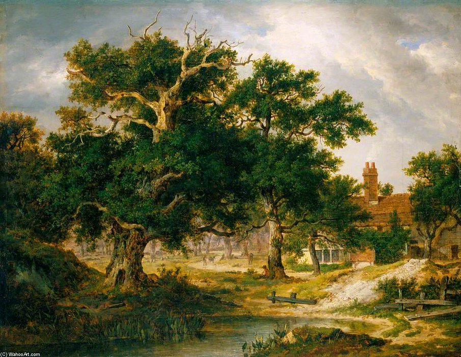 Oak de Sir Philip Sidney por Patrick Nasmyth (1787-1831, United Kingdom)
