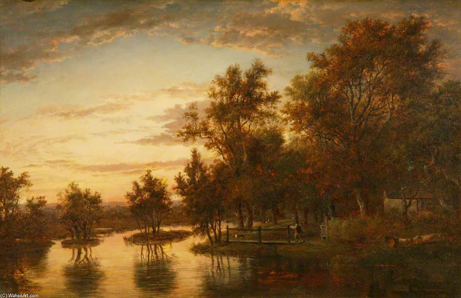 Sonning On The Thames por Patrick Nasmyth (1787-1831, United Kingdom)