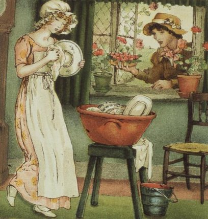 Curlylocks A partir de 'april Baby's livro de Tunes por Kate Greenaway (1846-1901, United Kingdom)