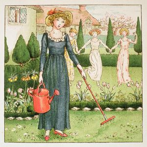 Kate Greenaway - Mary, Mary, bastante contraria..