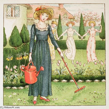 Mary, Mary, bastante contrariamente por Kate Greenaway (1846-1901, United Kingdom)