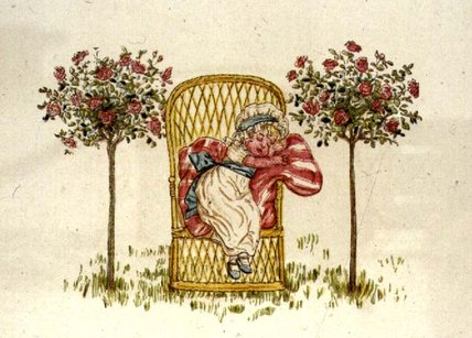 dormindo por Kate Greenaway (1846-1901, United Kingdom)