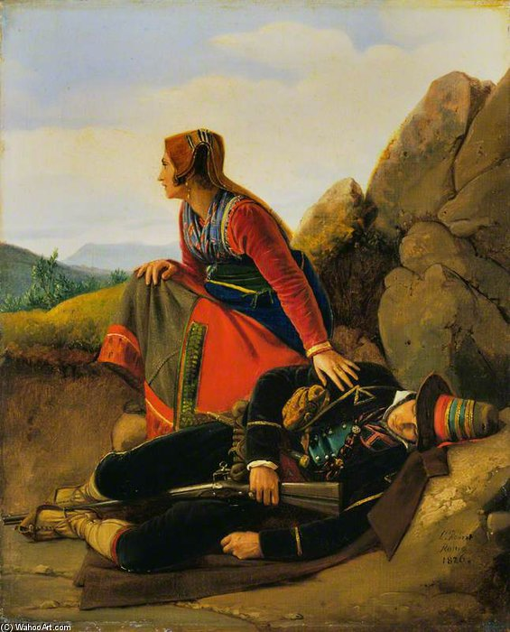 O Brigand Asleep por Louis Léopold Robert (1794-1835, Switzerland)