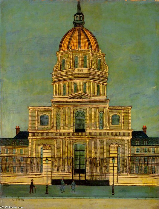 Les Invalides por Louis Vivin (1861-1936, France)