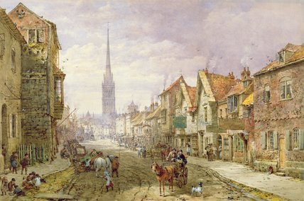 Salisbury por Louise Rayner (1832-1924, United Kingdom)