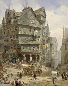 Louise Rayner - A High Street From The Bow Oes..