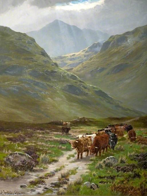 A passagem de Glencoe por Henry Hadfield Cubley (1858-1934, United Kingdom)