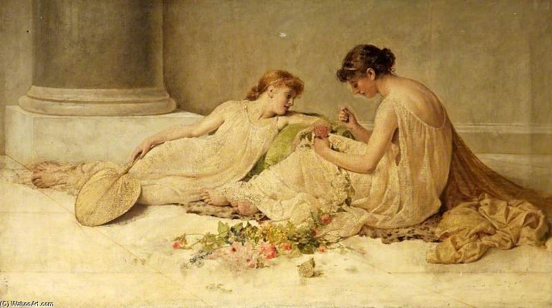Tecendo A Garland por Henry Thomas Schafer (1873-1915, France)