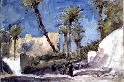 The Palms data em Elche por Hercules Brabazon Brabazon (1821-1906, France)