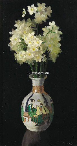 Narcissi por Elioth Gruner (1882-1939, New Zealand)