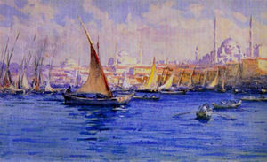 Fausto Zonaro - A Viewof Bosphorus