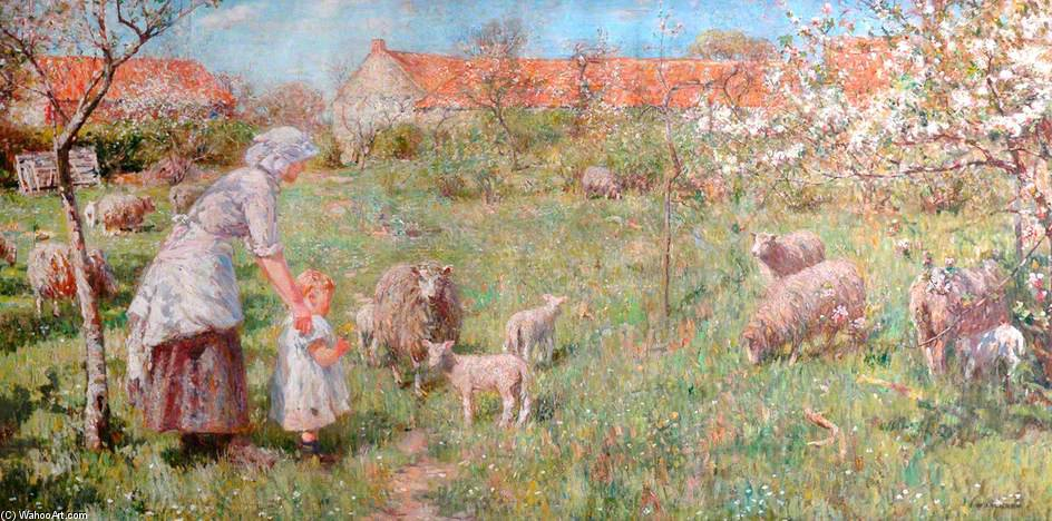 no primavera por Frederick William Jackson (1859-1918, United Kingdom)