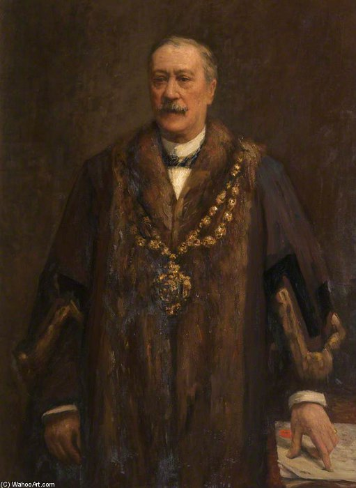 James Yates, Presidente da Câmara de Oldham por Frederick William Jackson (1859-1918, United Kingdom)