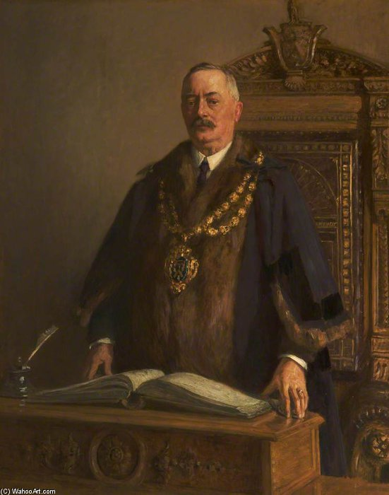 Thomas Bolton, o prefeito de Oldham por Frederick William Jackson (1859-1918, United Kingdom)