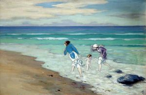George William Russell - na praia