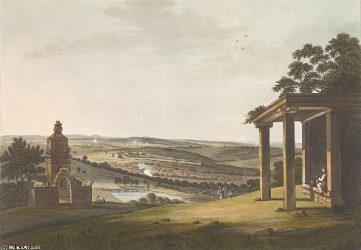 Uma vista de Ossoore por Thomas And William Daniell (1769-1837, United Kingdom)