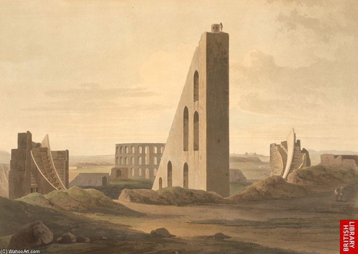 Samrat Yantra, Jantar Mantar por Thomas And William Daniell (1749-1840, United Kingdom)