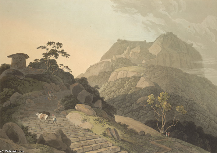 Verapadroog, Na Barramah l por Thomas And William Daniell (1769-1837, United Kingdom)