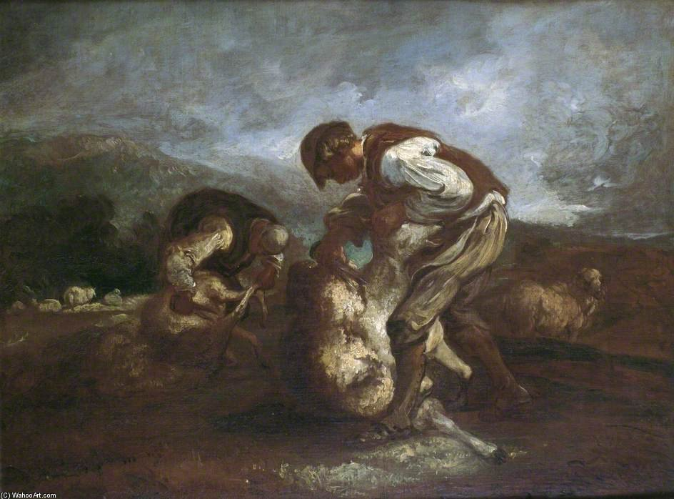 Sheep Shearing por Thomas Barker (1769-1847, United Kingdom)