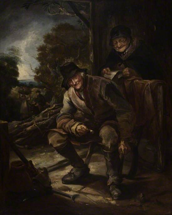 The Old Woodman por Thomas Barker (1769-1847, Wales)