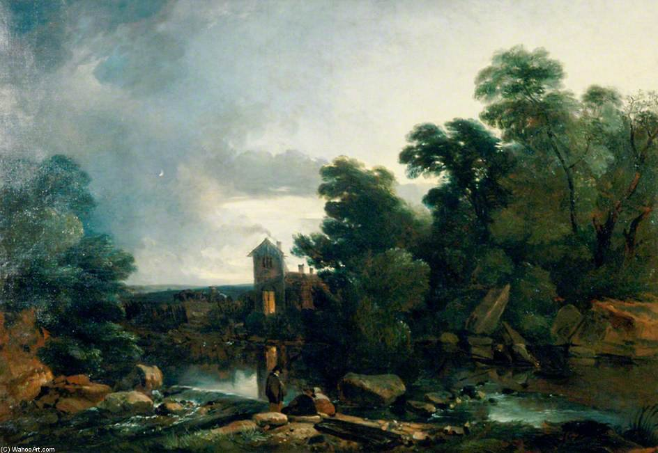 Crepúsculo On The Dee, North Wales por Thomas Barker (1769-1847, United States)