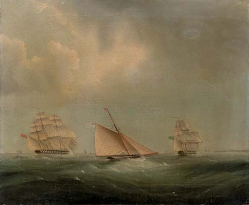 Envio no canal por Thomas Buttersworth (1768-1842, United Kingdom) | Cópias Da Arte Na Tela | ArtsDot.com