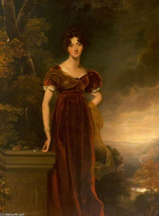Margaret Erskine Of Dun, esposa do 12º Conde de Cassilis, mais tarde primeiro Marquês de Ailsa por William Owen (1769-1825, United Kingdom) | ArtsDot.com