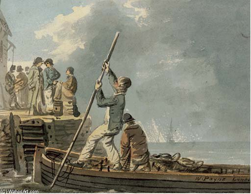 Fundição Off From The Quay por William Payne (1760-1830, United Kingdom) | Copy Pintura | ArtsDot.com