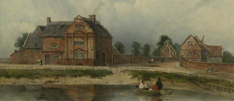 Rei Hall, Wisbech por Frederick Waters Watts (1800-1870, United Kingdom)