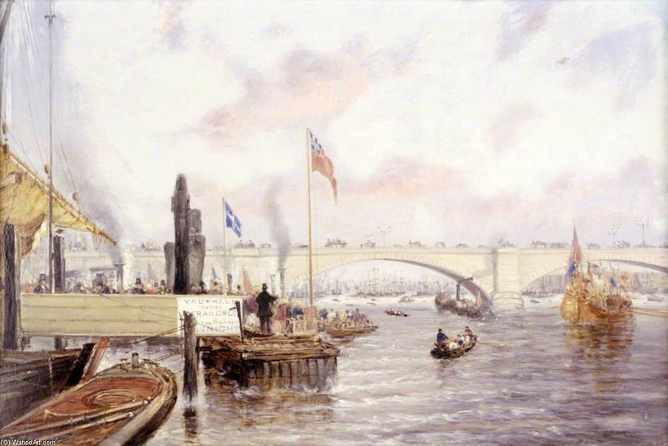 londres ponte por Frederick Waters (William) Watts (1800-1870, United Kingdom)