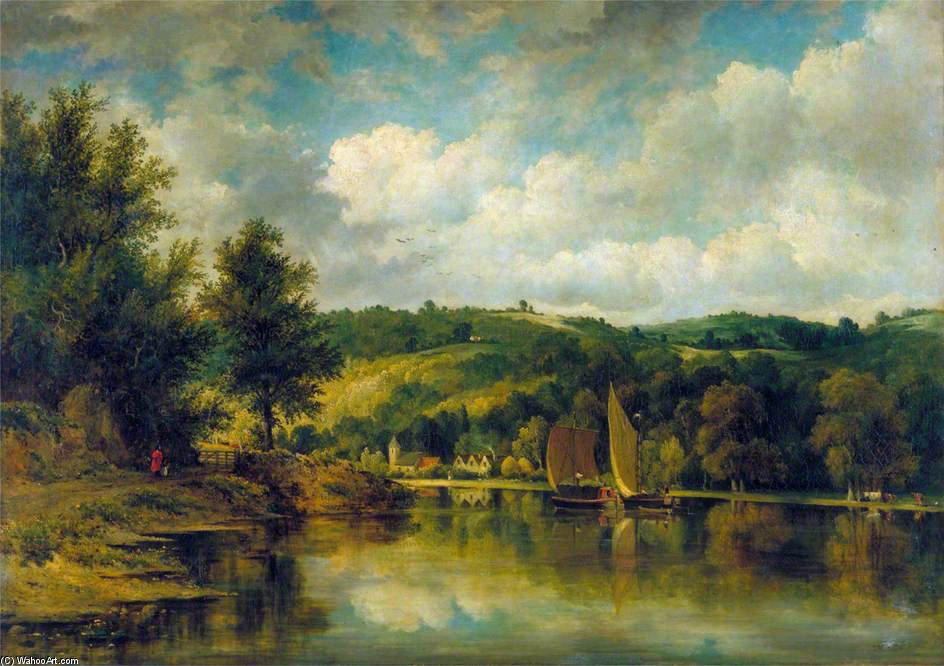 On The Wye por Frederick Waters Watts (1800-1870, United Kingdom)