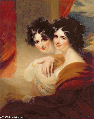 Anna Et Catherine Lopoukhine - por George Henry Harlow (1787-1819, United Kingdom)