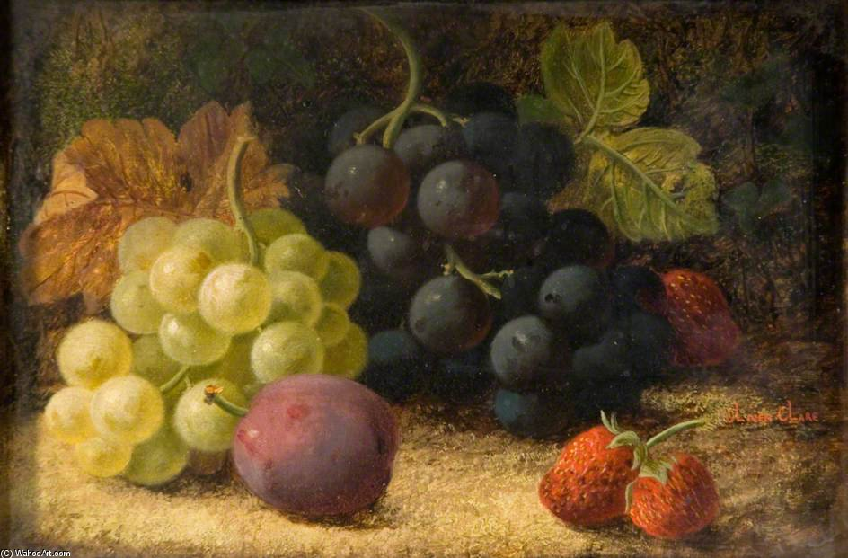 natureza, fruto por Oliver Clare (1853-1927, United Kingdom)