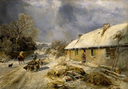 De Burns Cottage, Alloway por Samuel Bough (1822-1878, United Kingdom)