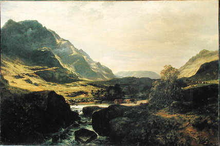 Em Glen Massan por Samuel Bough (1822-1878, United Kingdom)