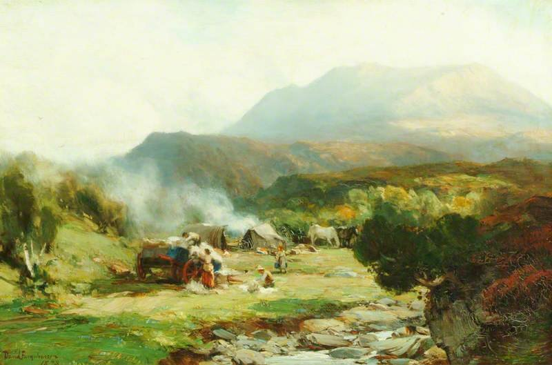 Gypsy Encampment, Ben Eay por David Farquharson (1839-1907, United Kingdom) | ArtsDot.com