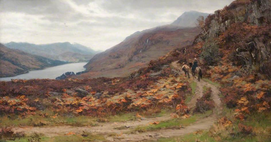 Queen's Vista , Fiorde Tummel por David Farquharson (1839-1907, United Kingdom) | ArtsDot.com