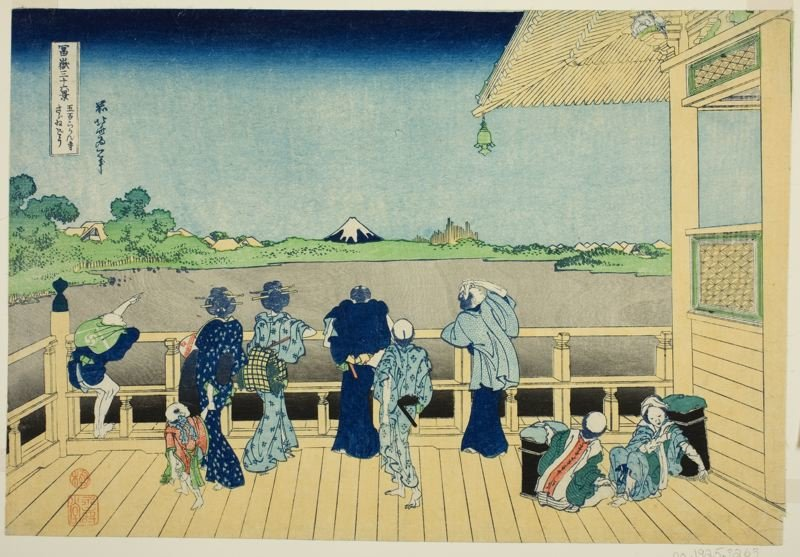 Sazai Salão At The Temple Of The Five Hundred Rakan por Katsushika Hokusai (1760-1849, Japan) | ArtsDot.com