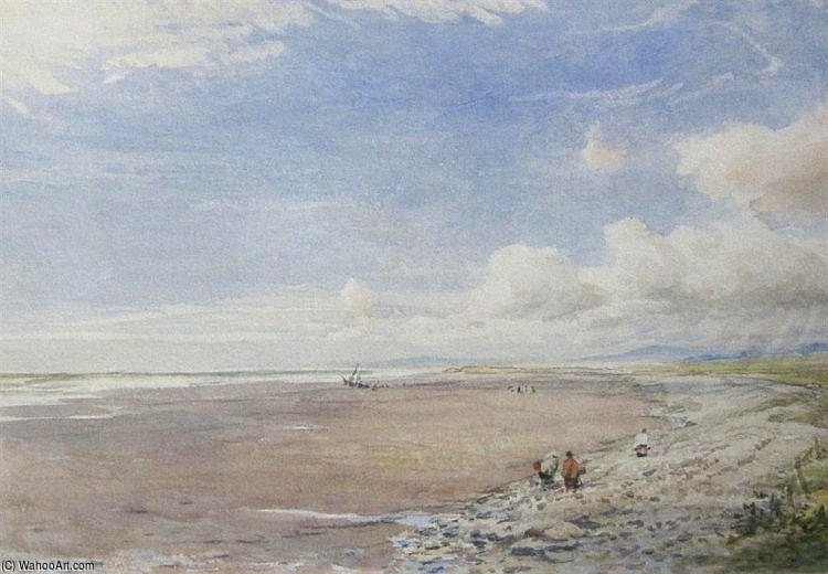 Beach Scene At Morfa Bychan por Thomas Collier (1620-1691, United Kingdom)