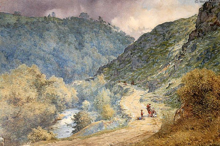 à `dolwyddelan` estrada por Thomas Collier (1620-1691, United Kingdom)